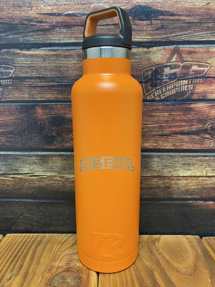 logo engraved on water bottle