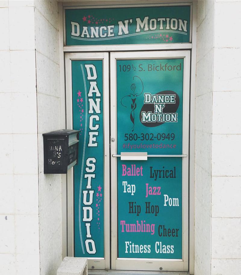 dance n motion window wrap