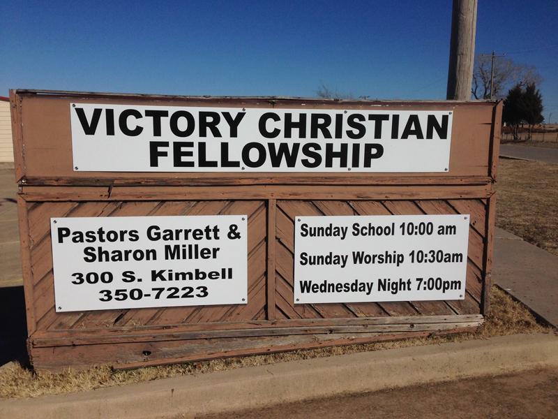 church sign installation